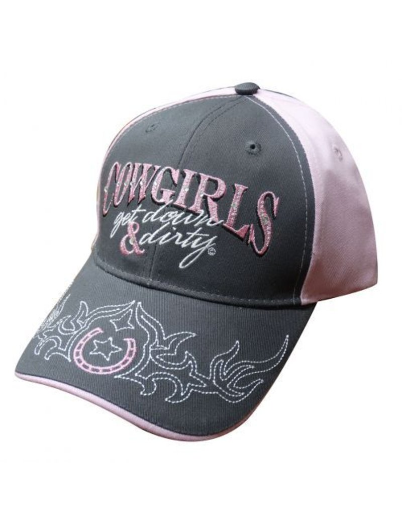 """ Cowgirls get down & dirty"" baseball hat."