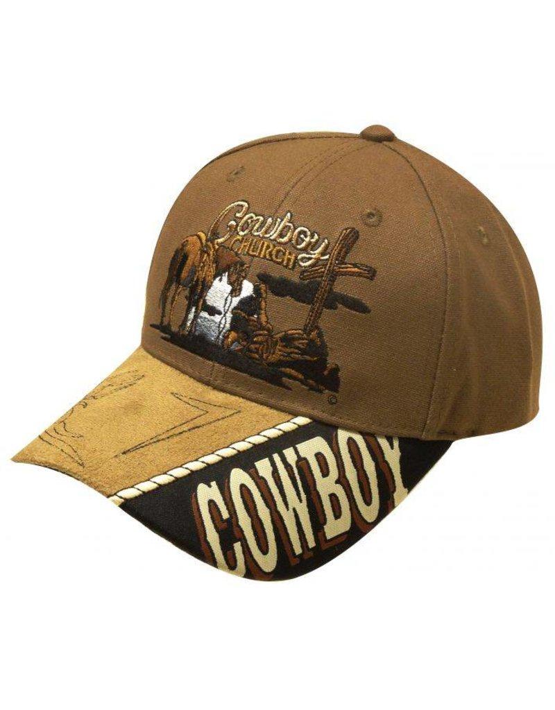 """ Cowboy Church"" baseball hat."
