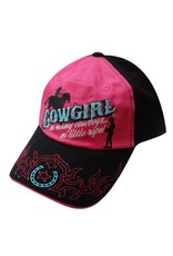 """Showman ® """" Cowgirl, so many cowboys, so little rope!"""" baseball hat."""