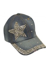 Showman ® Showman Couture ™ Bling denim hat with crystal rhinestone star.