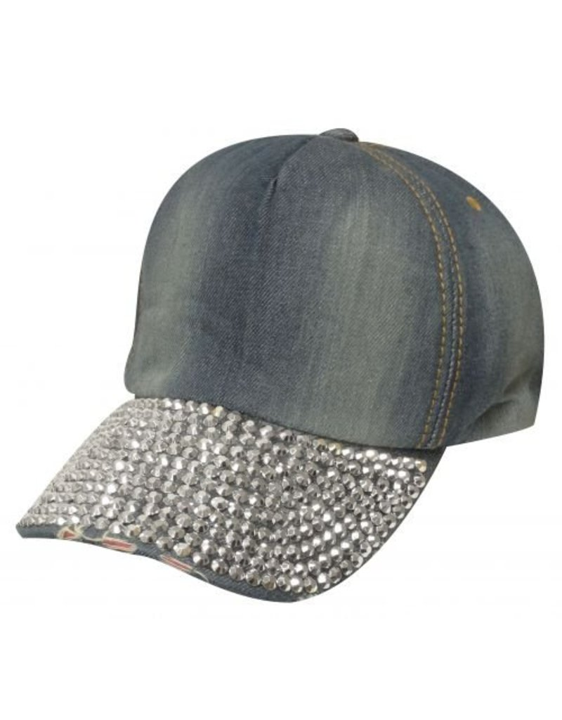Showman ®  Showman Couture ™ Bling denim hat with crystal rhinestone bill.