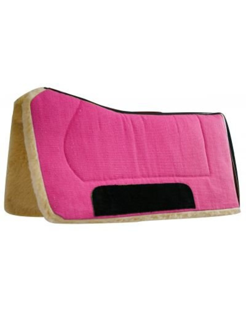 "Showman ® Showman™  32"" x 32"" contoured pad with Kodel fleece bottom and suede wear leather. Made by Showman™ Products."