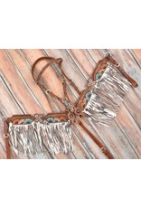 Showman ® Showman ® Multi Colored Sunflower and Cross Brow Band headstall and breast collar set.