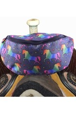 Showman ® Showman ® Unicorn printed insulated Nylon Saddle Pouch.