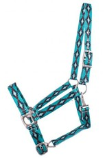 Showman ® Showman® Premium Nylon Horse Sized Halter with Turquoise and Brown Navajo design.