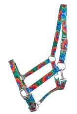 Showman ® Showman® Premium Nylon Horse Sized Halter with Tie Dye design