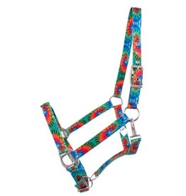 Showman ® Showman® Premium Nylon Horse Sized Halter with Tie Dye design