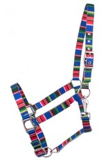 Showman ® Showman® Premium Nylon Horse Sized Halter with serape design.