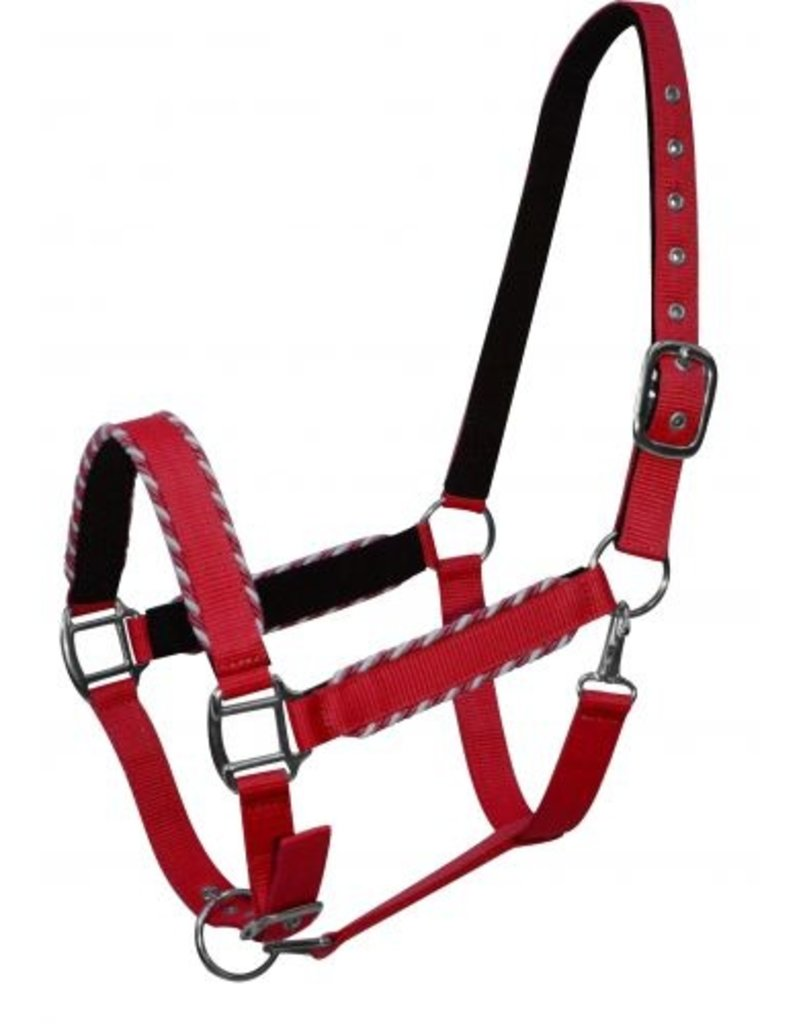Showman ® Showman™ neoprene lined halter with rope border design.