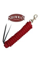 "Showman ® Showman ®  5/8"" X 14' leather end nylon pro braid training lead with brass snap"
