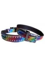 Showman ® Showman Couture ™ Rainbow Glitter overlay leather dog collar.