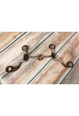 Showman ® Showman™ brown steel bit with engraved copper studs and silver accents on the cheeks.