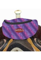 Showman ® Showman ® Wild Safari Print Insulated Nylon Saddle Pouch.