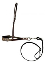 Showman ® Klassy Cowgirl Argentina Cow Leather Tie Down with motif overlay.