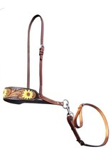 Showman ® Showman ® Hand Painted Sunflower leather tie down noseband and strap.
