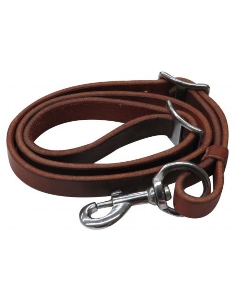 """Showman ® Showman ® 3/4"""" x 40"""" Oiled harness leather tie down strap"""