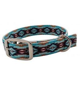 Showman ® Showman Couture ™ Teal Southwest designed nylon dog collar.