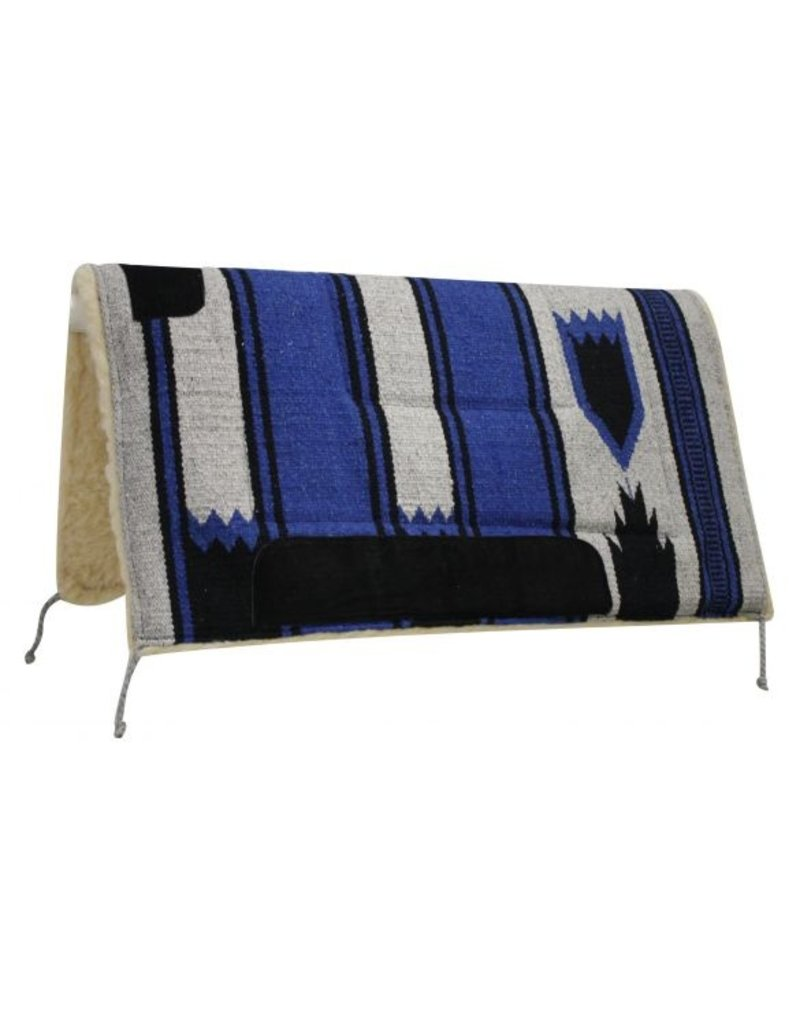 """Showman ® Showman 32"""" x 32"""" deluxe Navajo pad with Kodel fleece bottom and suede wear leathers. Made by Showman Products."""