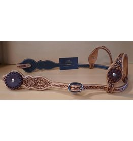 Cattleman's Double ear headstall  with contrasting conchos