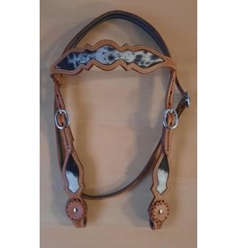 Cattleman's Browband headstall  COWHIDE
