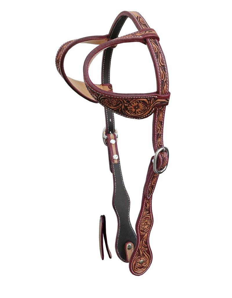Cattleman's Double ear headstall  antique russet – LATIGO finishing