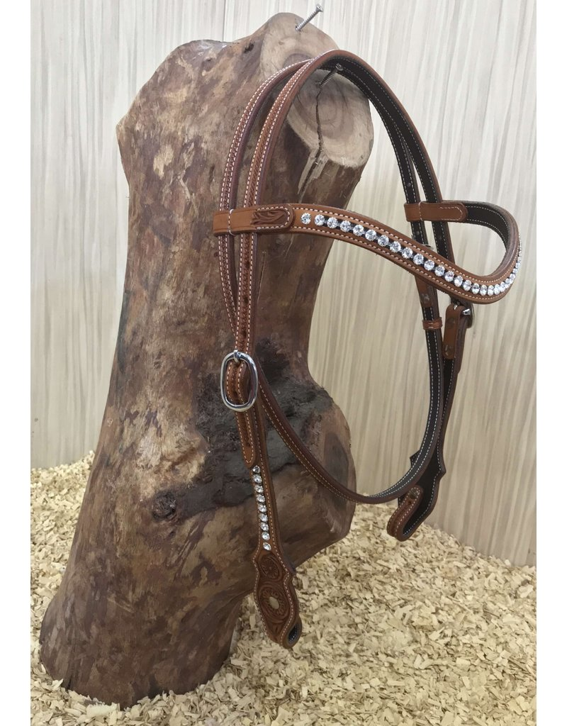 Cattleman's CRYSTALS BROWBAND headstall