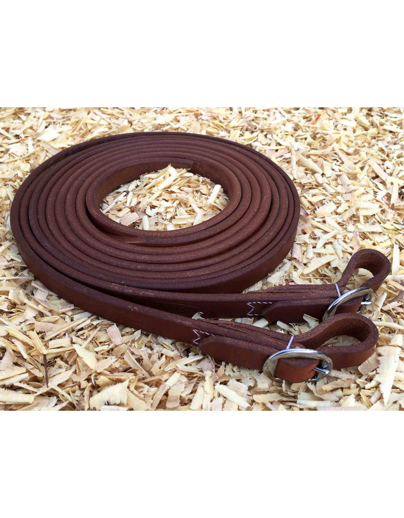 Cattleman's Leather reins  buckle closure