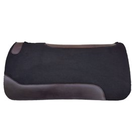 Showman ® Showman ® 31 x 31 x 1 Black Felt Saddle Pad. Blended black felt with noeprene bottom and oversized wear leathers. Features a leather reinforced back with vented wither.