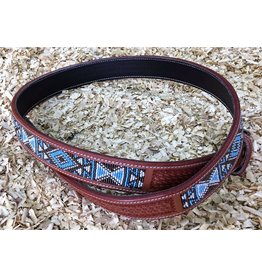 GVR Belt leather with BEADS  Basket tooling