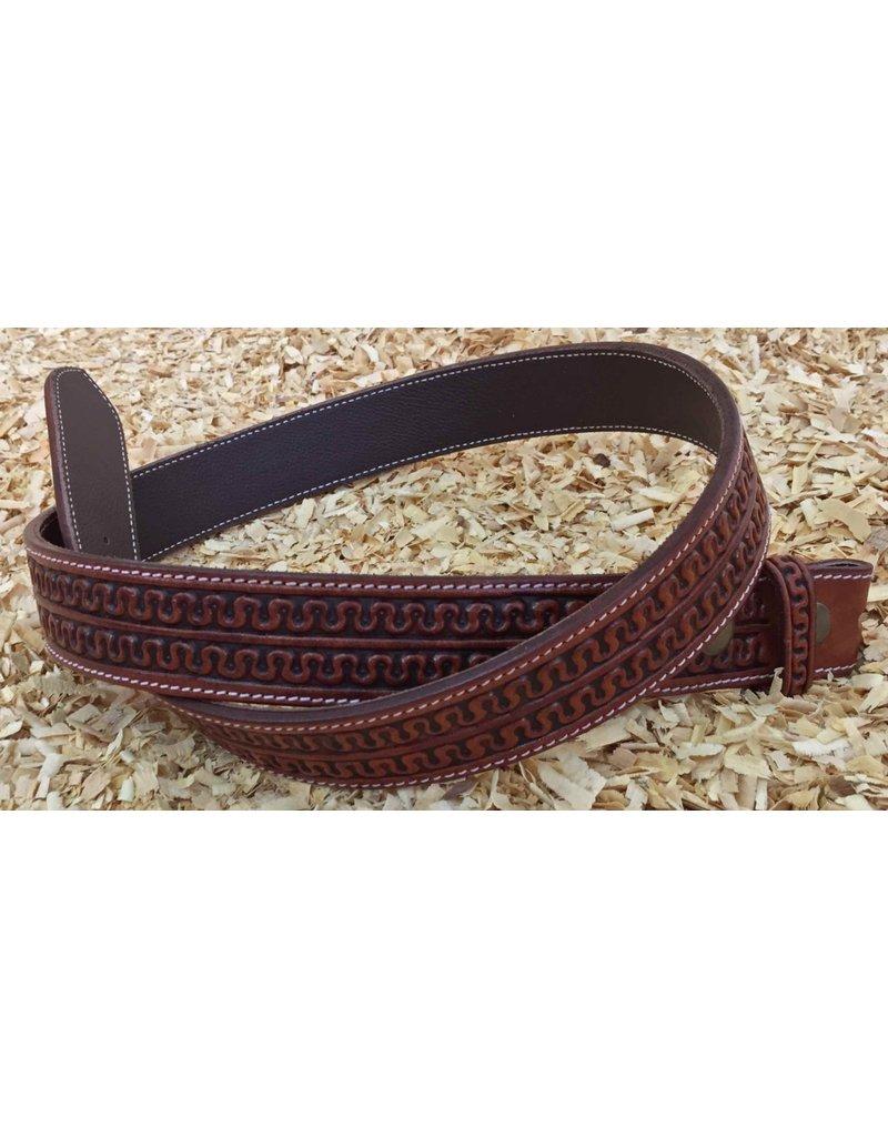 GVR Belt leather  Snake border  Antique finish