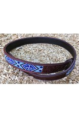 GVR Belt leather with BEADS  Flower tooling