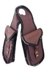 Cattleman's Cattleman's double horn bag  canvas with leather parts