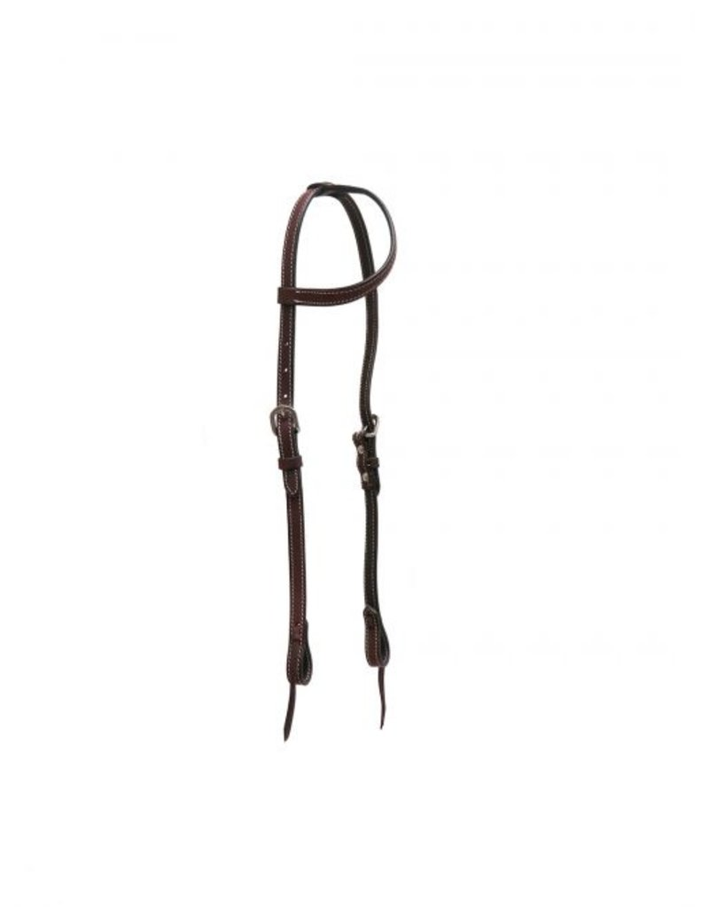 Showman ® Showman ® Double stitched one ear headstall with tie on bit loops.
