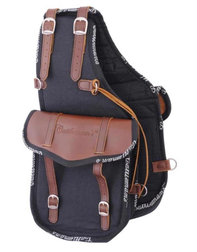 Cattleman's Cattleman's hind bag  canvas with leather parts