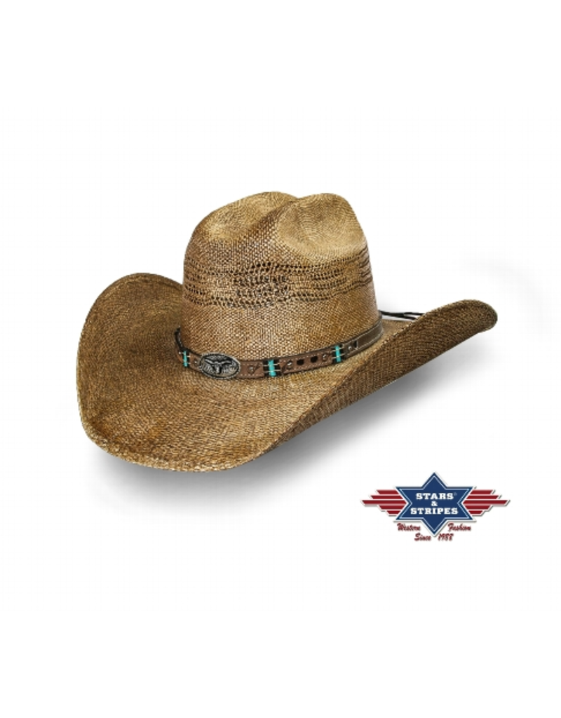 Stars and Stripes Pinedale Straw hat