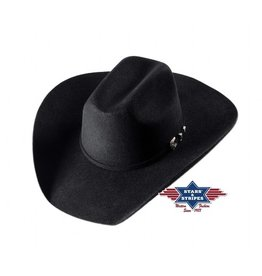Stars and Stripes Wyoming hat black