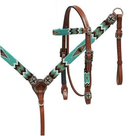 Showman ® Showman ® Beaded headstall and breast collar set.