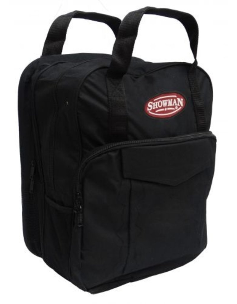 Showman ®  Showman ® Deluxe lariat rope carrying bag. The Showman® lariat rope bag is constructed of durable nylon and was designed to keep your roping equipment clean and organized.