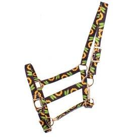 Showman ® Showman® Premium Nylon Horse Sized Halter with sunflower and cactus design.