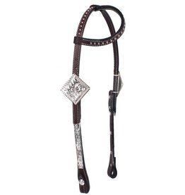 Showman ® Showman ® Tooled Argentina cow leather show headstall.