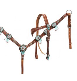 Showman ® Showman® Headstall and breast collar set with beaded dream catchers.