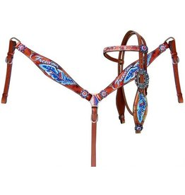 """Showman ® Showman® """"Freedom"""" feather headstall and breast collar set."""