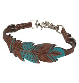 Showman ® Showman ® PONY Cut-out, hand painted feather wither strap.