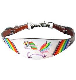 Showman ® Showman ® PONY SIZE  Rainbow Unicorn print wither strap.