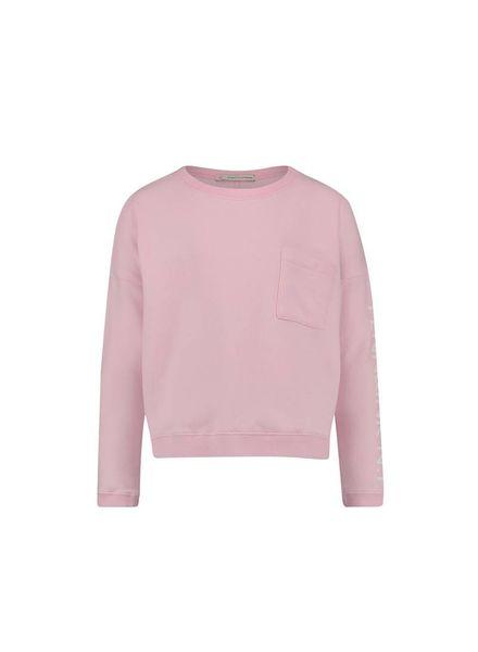 PENN&INK Sweater S18F181K Pink/White Katoen Elastan