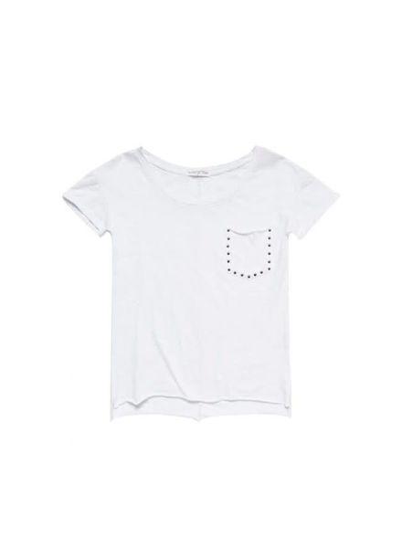 T-shirt Reese White Katoen