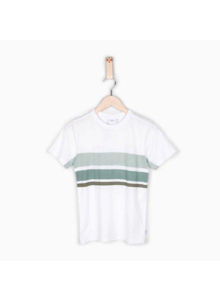 T-shirt Ejgo White Katoen Elastan