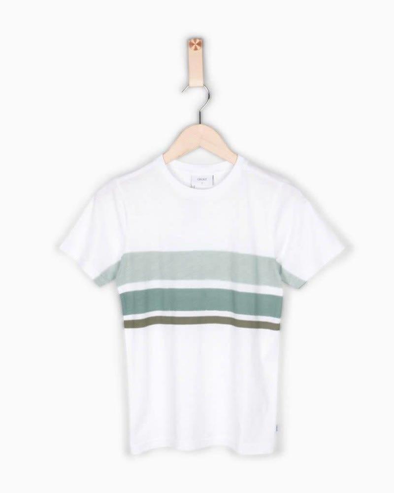 Grunt T-shirt Ejgo White Katoen Elastan