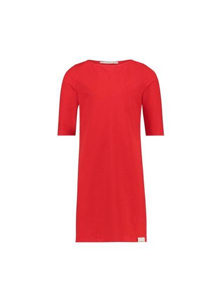 PENN&INK Dress Stripe S18N09K Flame/Grid Katoen Elastan
