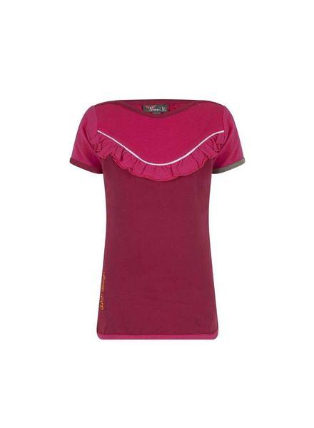 T-Shirt  NVSS18-04 Dark Pink Katoen Elastan